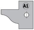 Комплект 2 ножей HM 25x29x2 (A1) для 694.015 (695.015.A1)