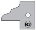 Комплект 2 ножей HM 25x29x2 (B2) для 694.015 (695.015.B2)