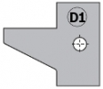 Комплект 2 ножей HM 25x29x2 (D1) для 694.015 (695.015.D1)