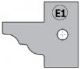 Комплект 2 ножей HM 25x29x2 (E1) для 694.015 (695.015.E1)