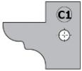 Комплект 2 ножей HM 25x29x2 (C1) для 694.015 (695.015.C1)