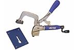 СНЯТО! Зажим верстачный 76,2х101,6 мм с опорной базой (пластиной) Bench Klamp System (KKS-KBKSYS)