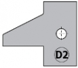 Комплект 2 ножей HM 25x29x2 (D2) для 694.015 (695.015.D2)