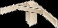 Соединение ножки и перекладин стола Kreg